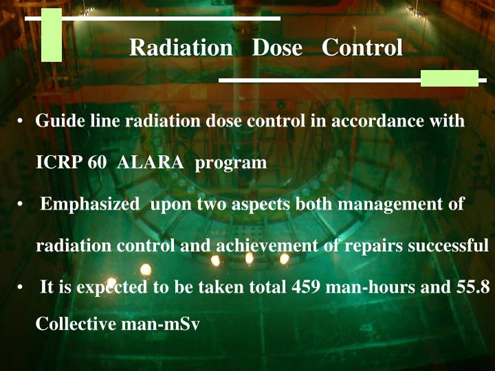 Radiation   Dose   Control