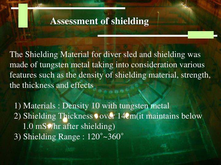 Assessment of shielding