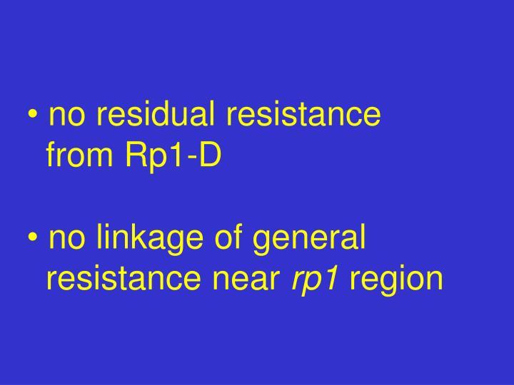 no residual resistance