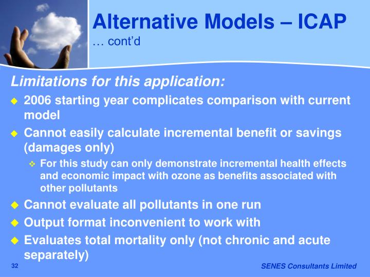 Alternative Models – ICAP