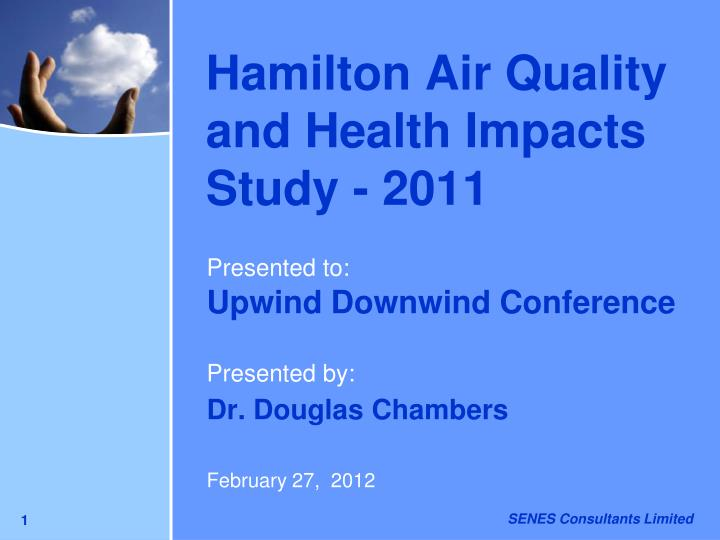 hamilton air quality and health impacts study 2011