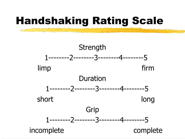 Handshaking Rating Scale