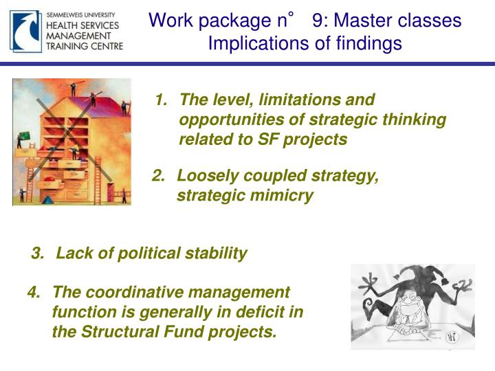 Work package n° 9: Master classes