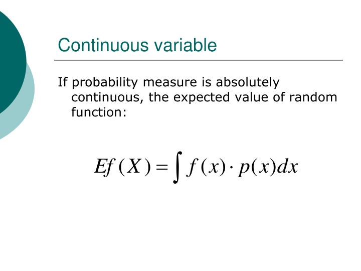Continuous variable