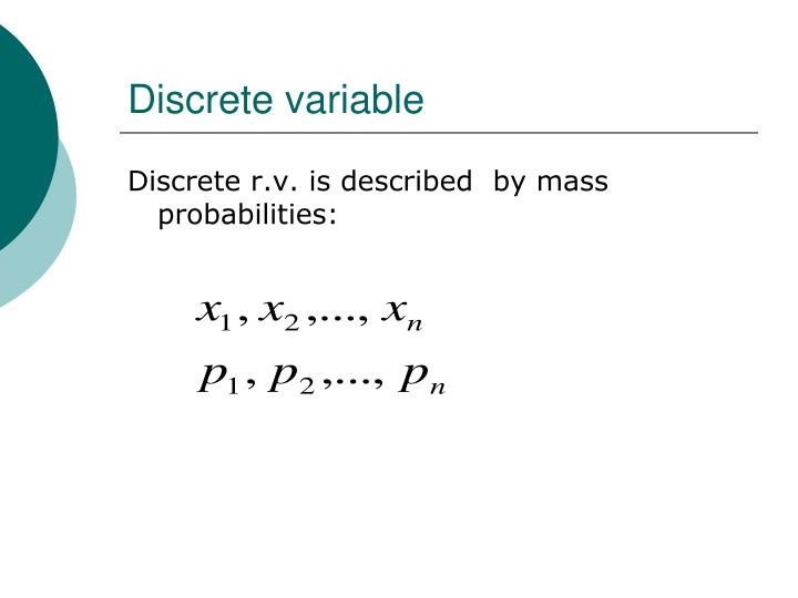 Discrete variable