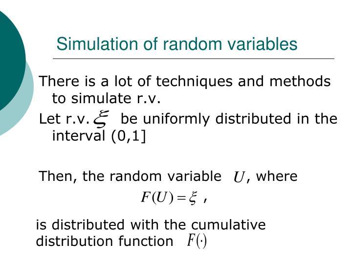 Simulation of random variables