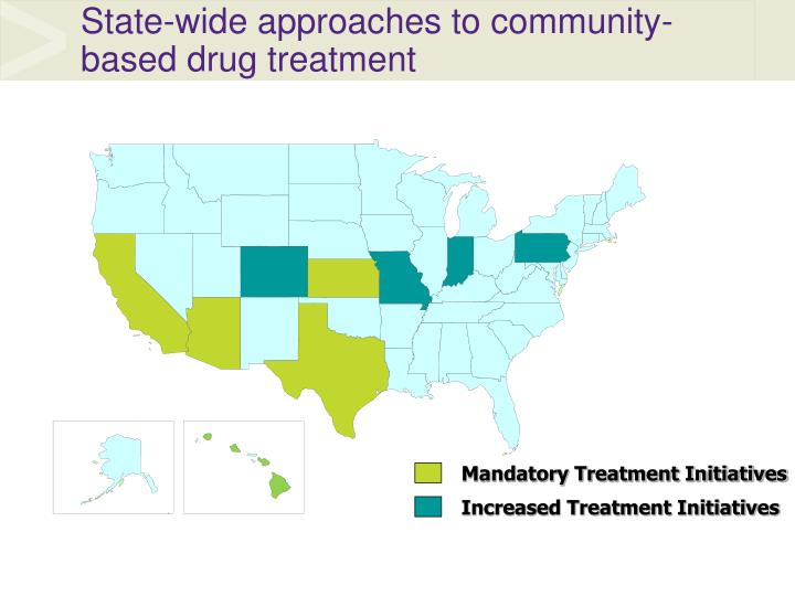 State wide approaches to community based drug treatment