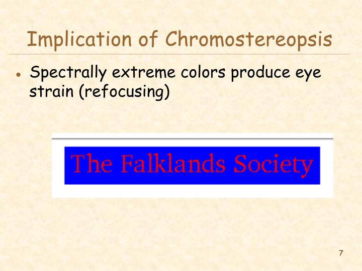 Implication of Chromostereopsis