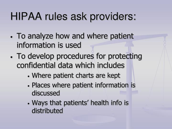 HIPAA rules ask providers: