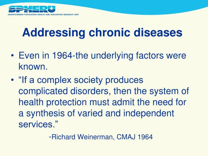 Addressing chronic diseases