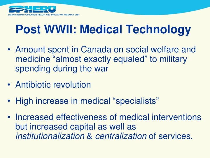 Post WWII: Medical Technology