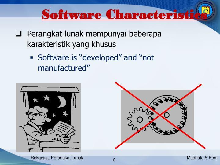 Software Characteristics