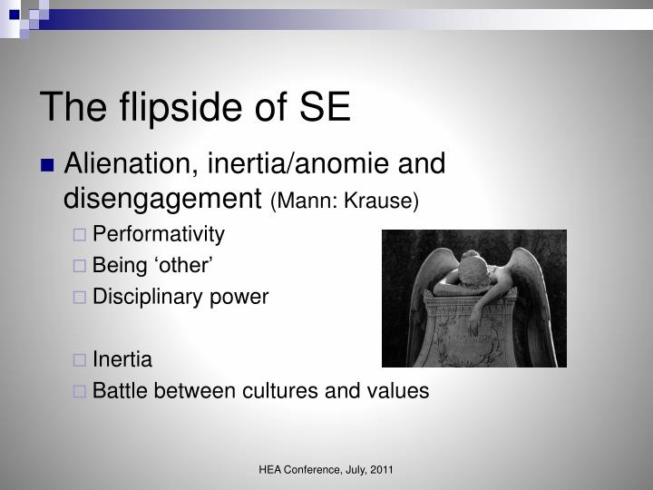 The flipside of SE