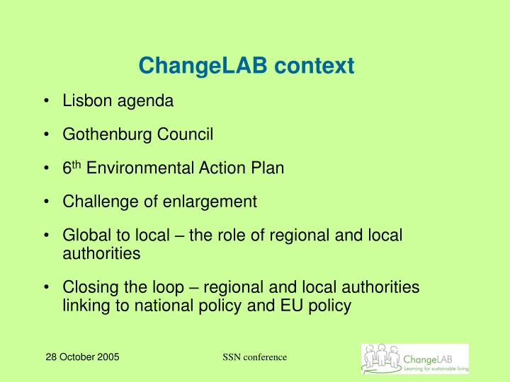 ChangeLAB context