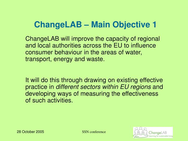 ChangeLAB – Main Objective 1