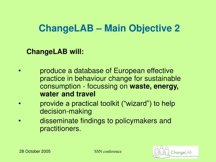 ChangeLAB – Main Objective 2