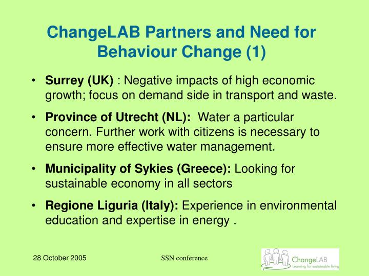 ChangeLAB Partners and Need for Behaviour Change (1)