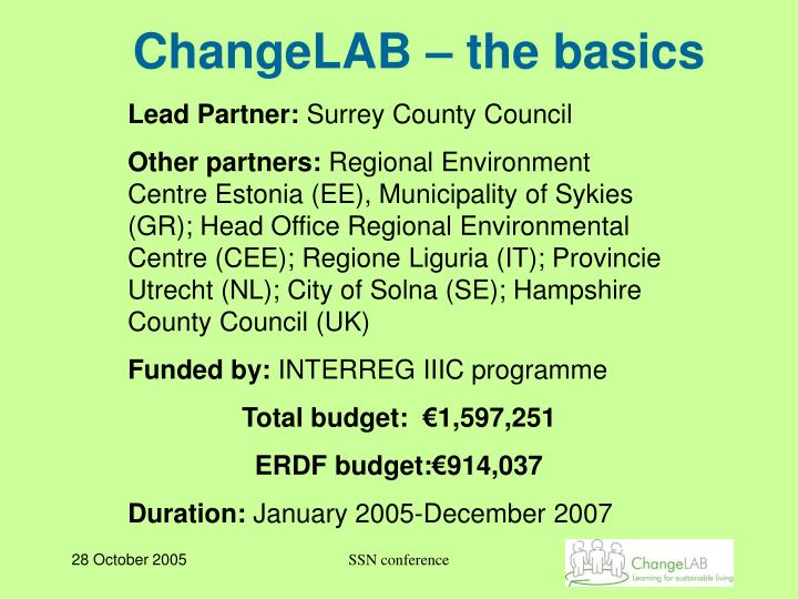 ChangeLAB – the basics