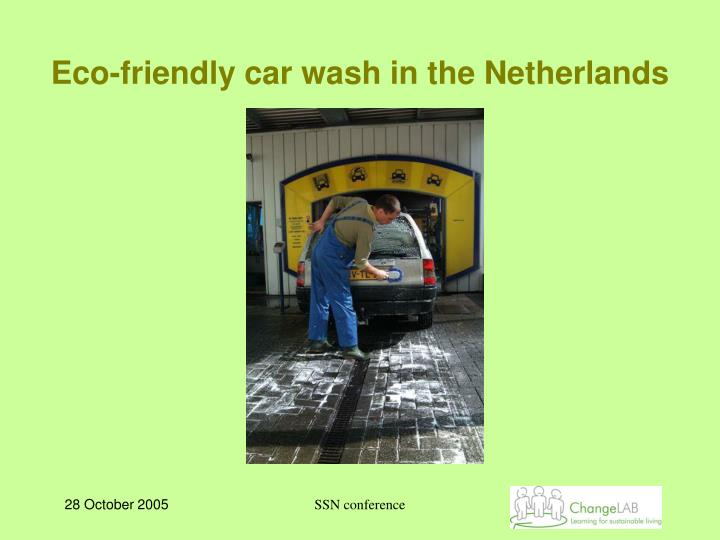 Eco-friendly car wash in the Netherlands