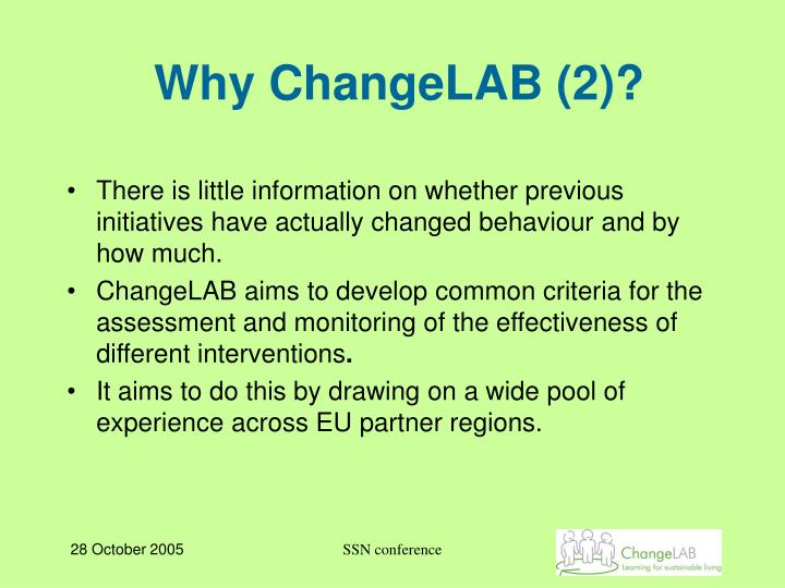 Why ChangeLAB (2)?