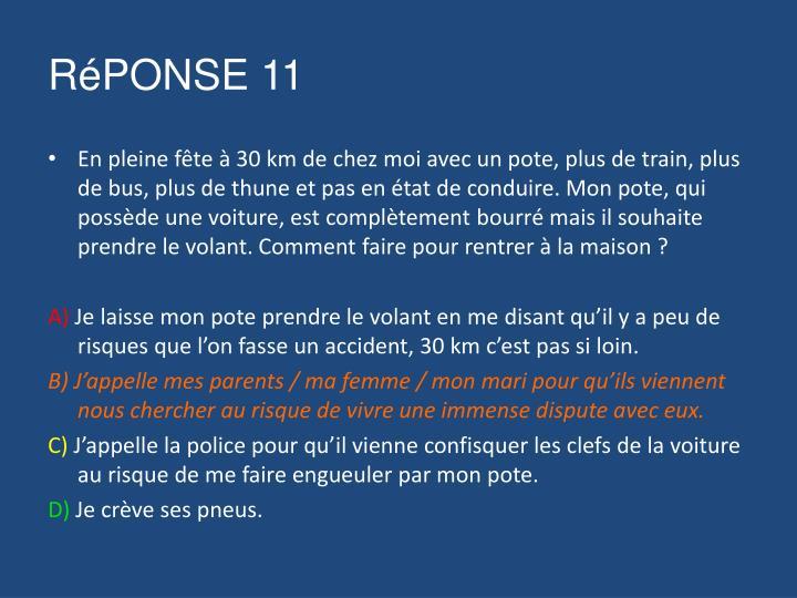 RéPONSE 11