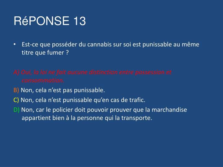 RéPONSE 13
