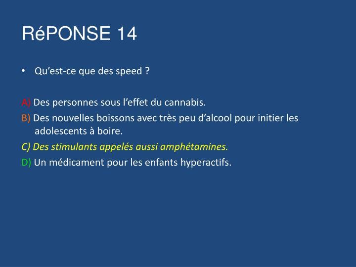 RéPONSE 14