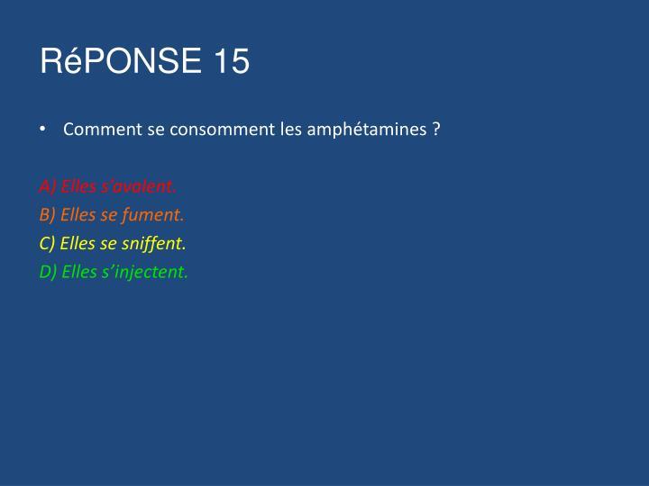 RéPONSE 15