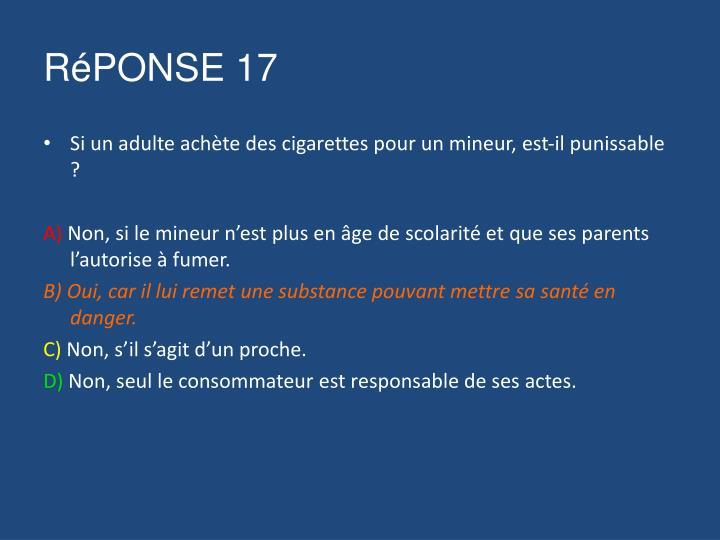 RéPONSE 17