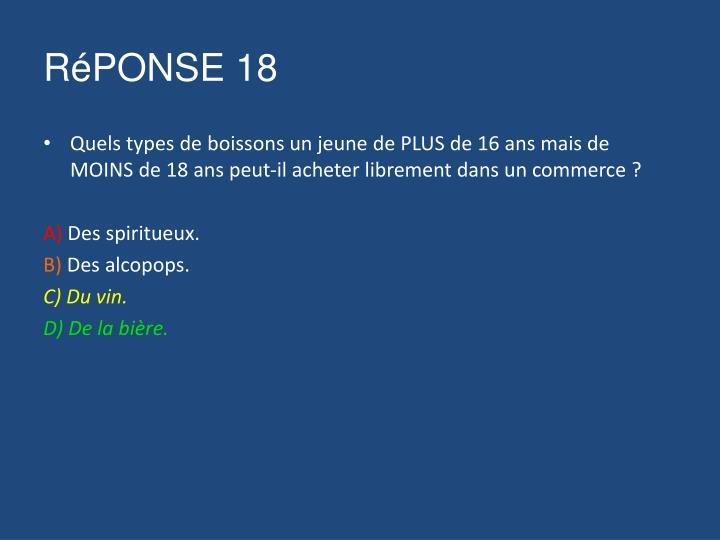 RéPONSE 18