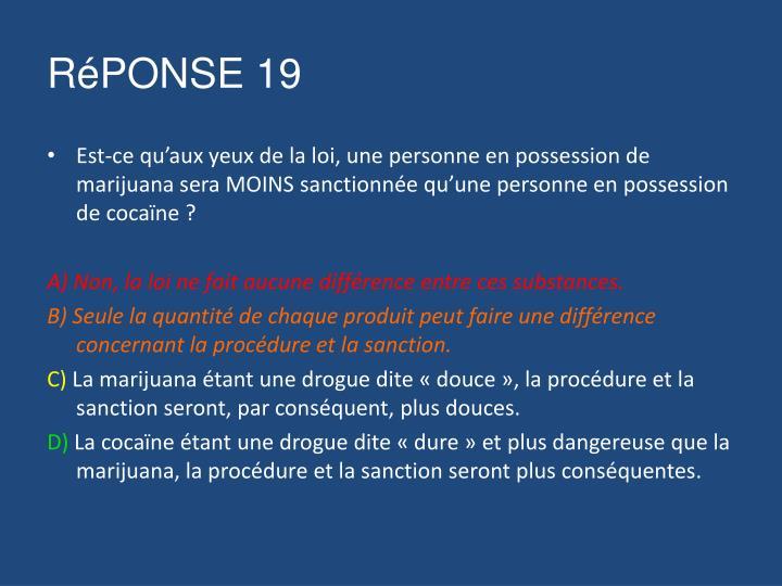 RéPONSE 19