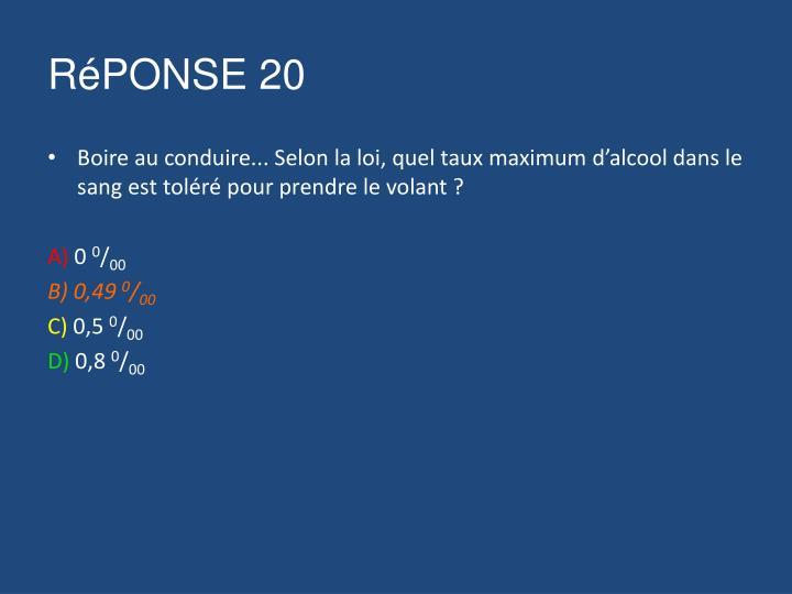 RéPONSE 20