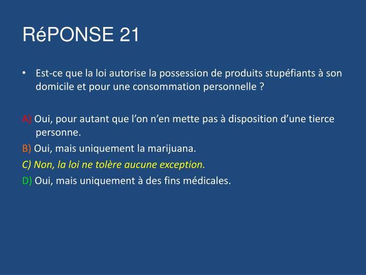 RéPONSE 21