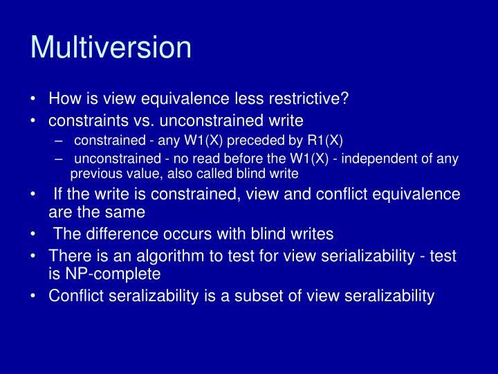 Multiversion