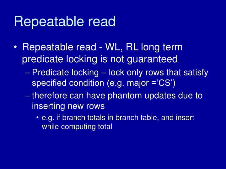 Repeatable read