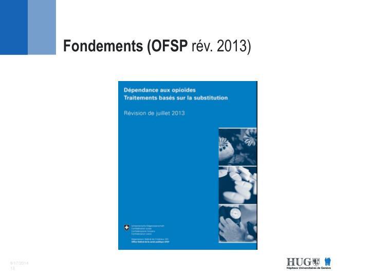 Fondements (OFSP