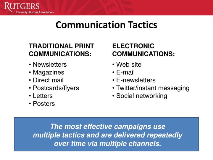 The most effective campaigns use