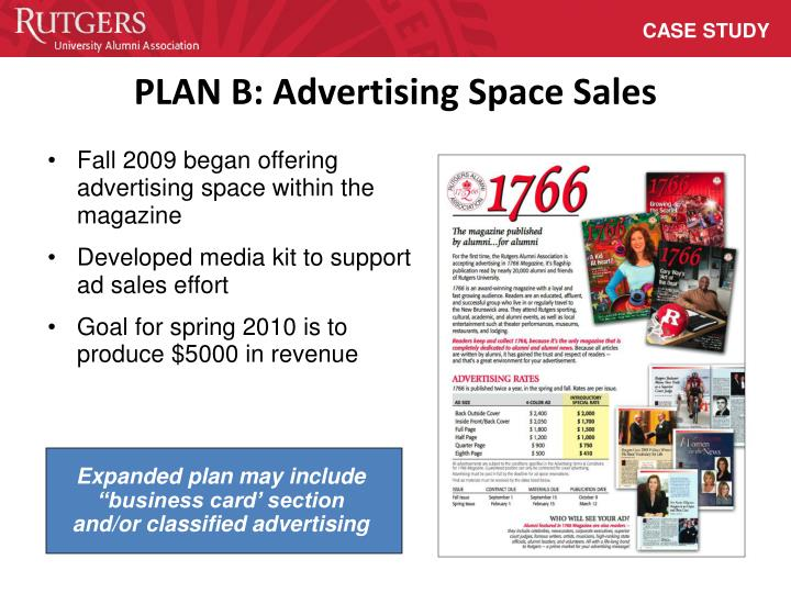 "Expanded plan may include ""business card' section and/or classified advertising"