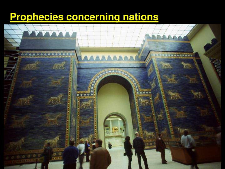 Prophecies concerning nations