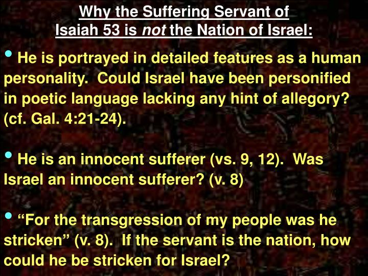 Why the Suffering Servant of