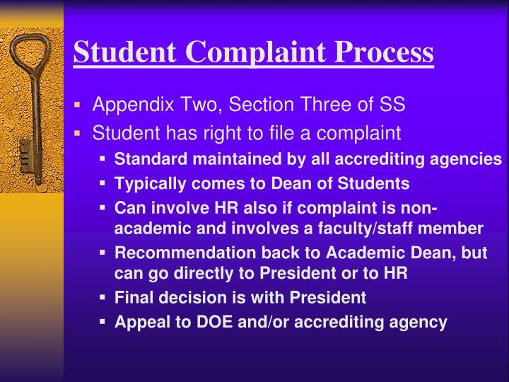 Student Complaint Process