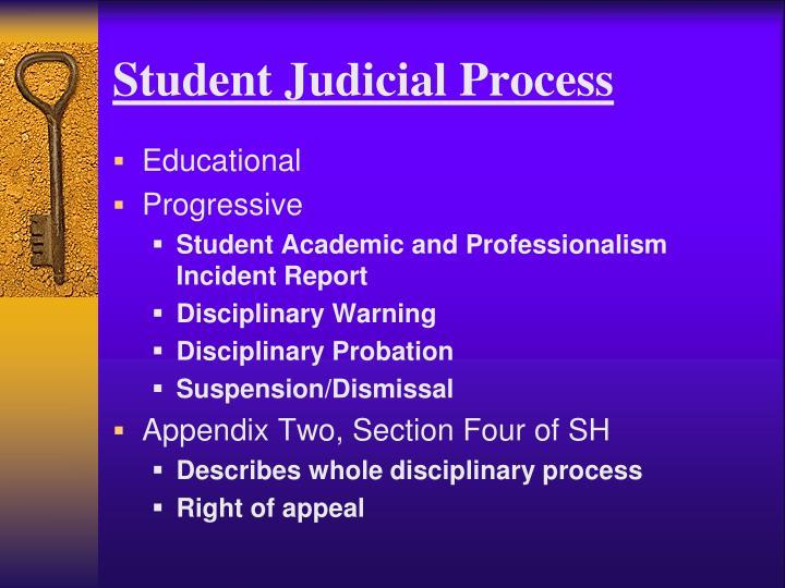 Student Judicial Process