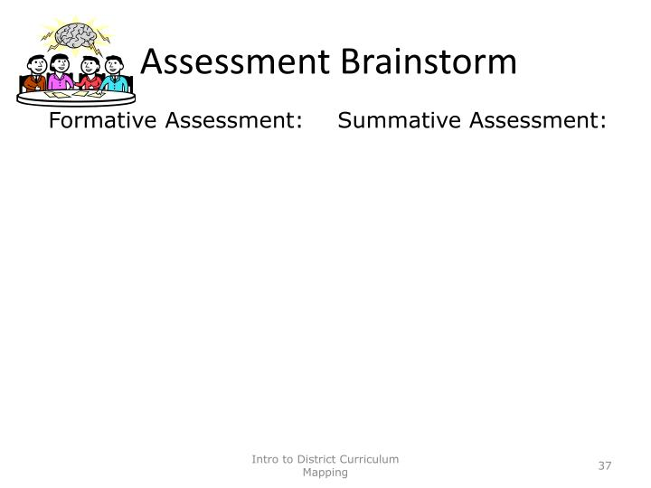 Assessment Brainstorm
