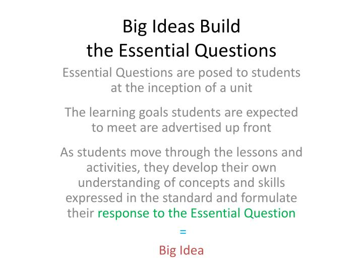 Big Ideas Build
