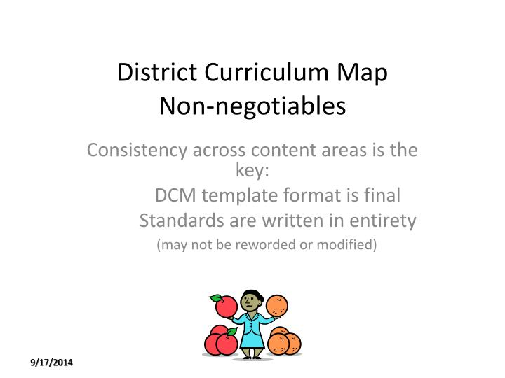District Curriculum Map