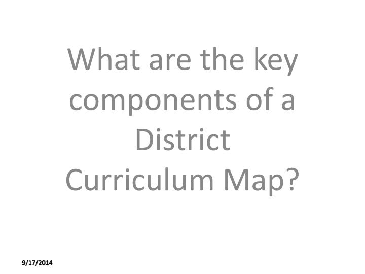 What are the key components of a District Curriculum Map?