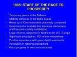 1995 start of the race to prosperity