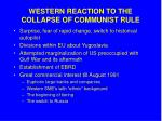 western reaction to the collapse of communist rule