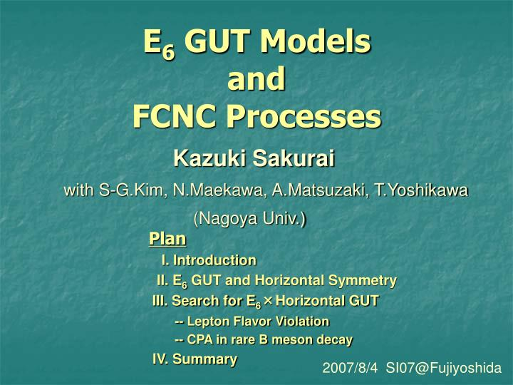 E 6 gut models and fcnc processes