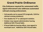 grand prairie ordinance